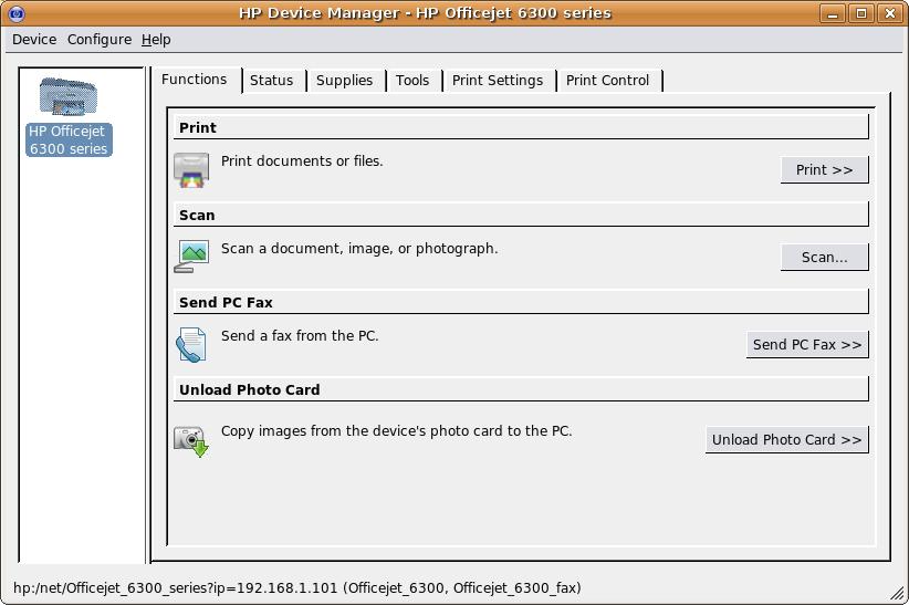 драйвер на линукс hp