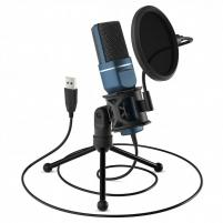 USB Condenser Podcasting Microphone With Tripod & Pop Filter for GNU/Linux (TPE-PDMIC)