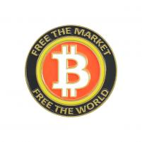 Free The Market Free The World Bitcoin Pin