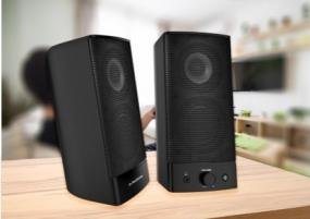 2-in-1 Wired Bluetooth Multimedia Stereo PC Speakers