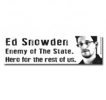 Ed Snowden, Enemy of The State, Hero for the rest of us Bumper Sticker